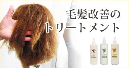 毛髪改善のトリートメント