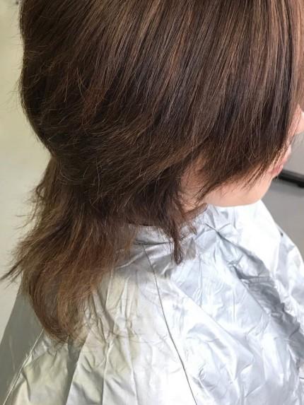 惨めになった髪型1