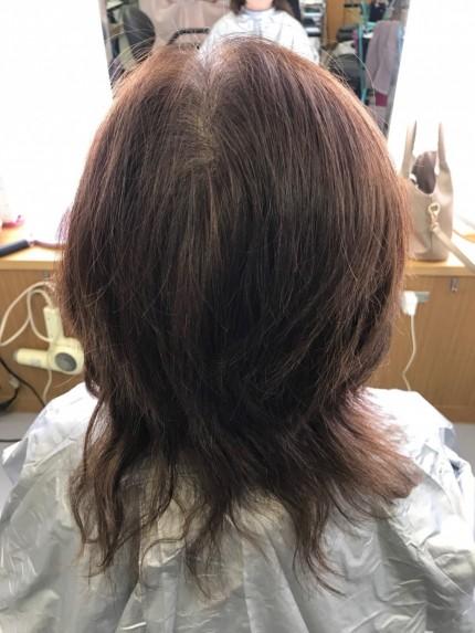 惨めになった髪型2